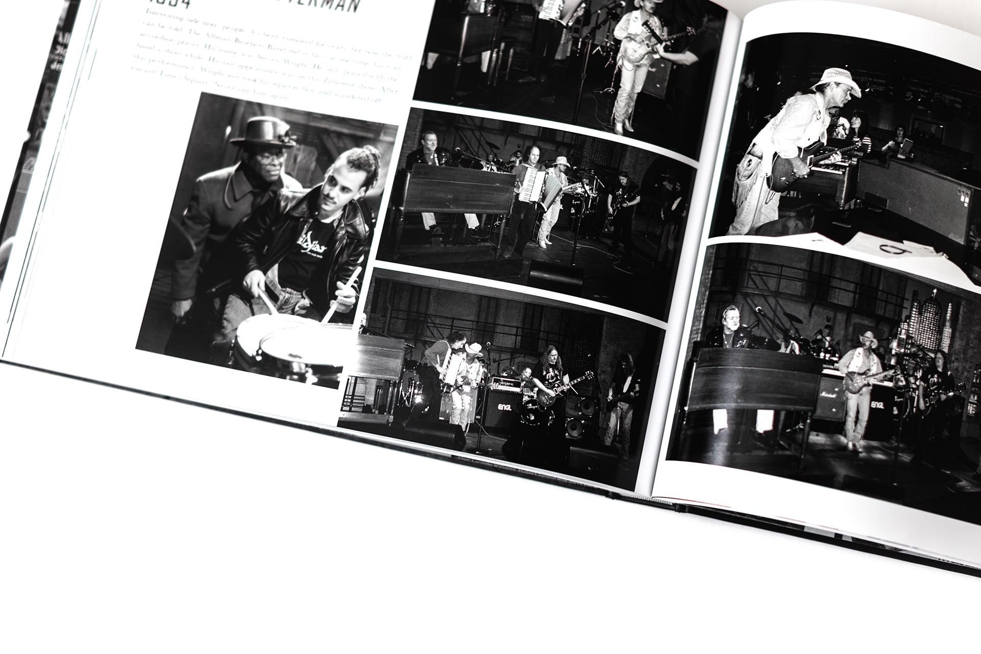 Page depicting the Allman Brothers on the Late Show