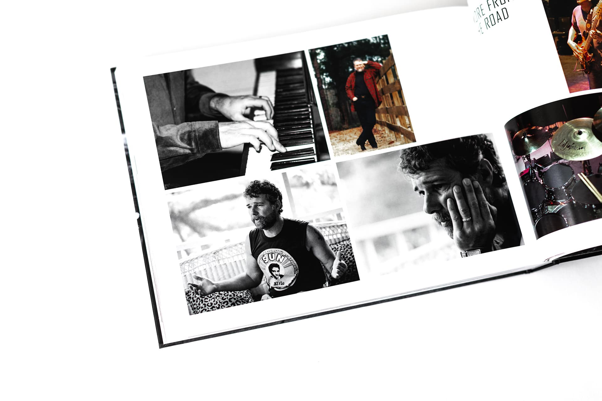 pictures of band members from the book