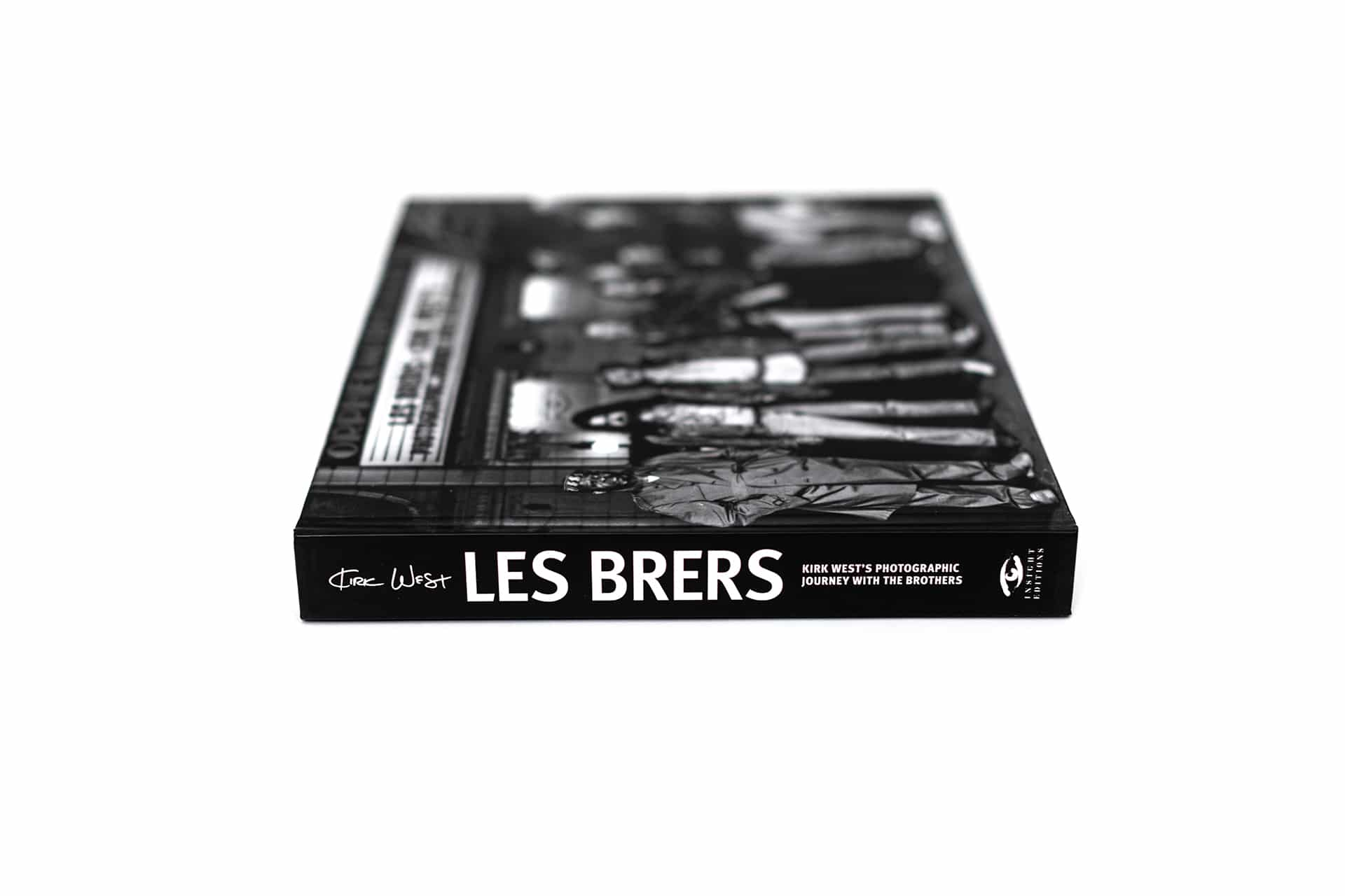 Side shot of the spine of Kirk West's Les Brers.